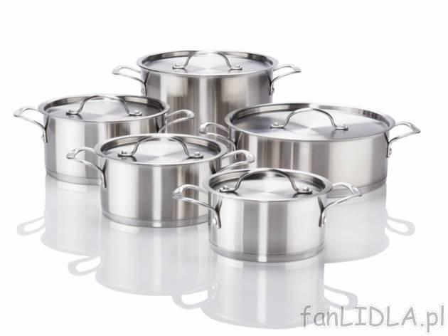 Komplet garnki na każdą kuchenkę również gazową, Kuchnia  fanLIDLA pl -> Kuchnia Prowansalska Miedziane Garnki