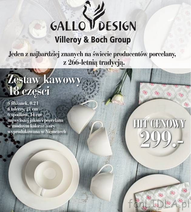 zestaw kawowy porcelana gallo design villeroy boch group kuchnia. Black Bedroom Furniture Sets. Home Design Ideas