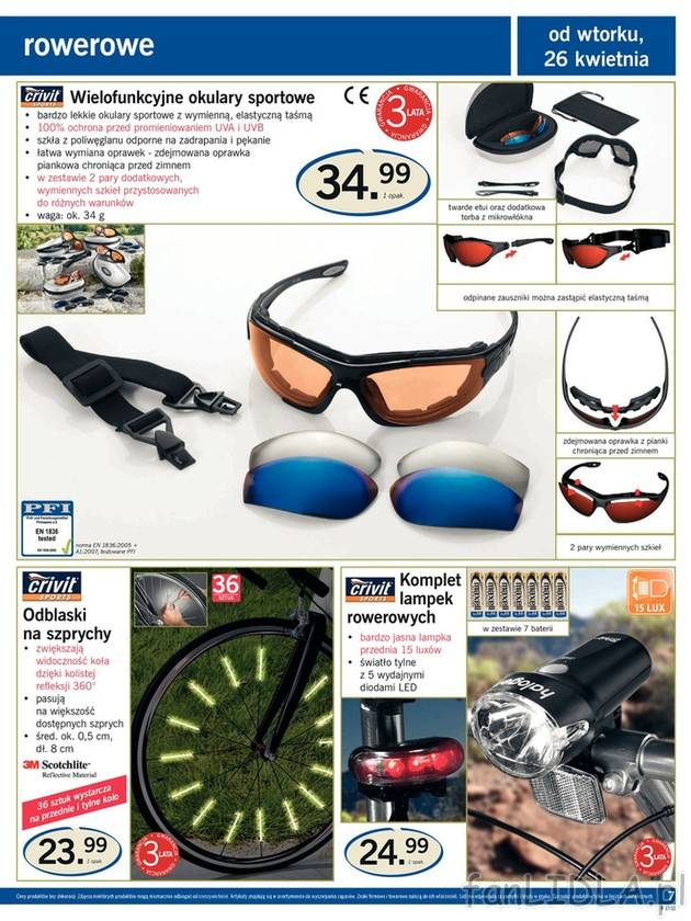 Oświetlenie Na Rower Crivit Sport I Rekreacja Fanlidlapl