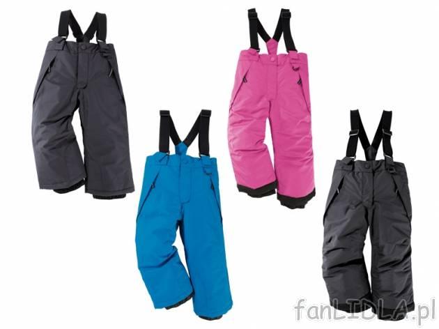 ccead29206 Spodnie narciarskie dla dzieci Lupilu