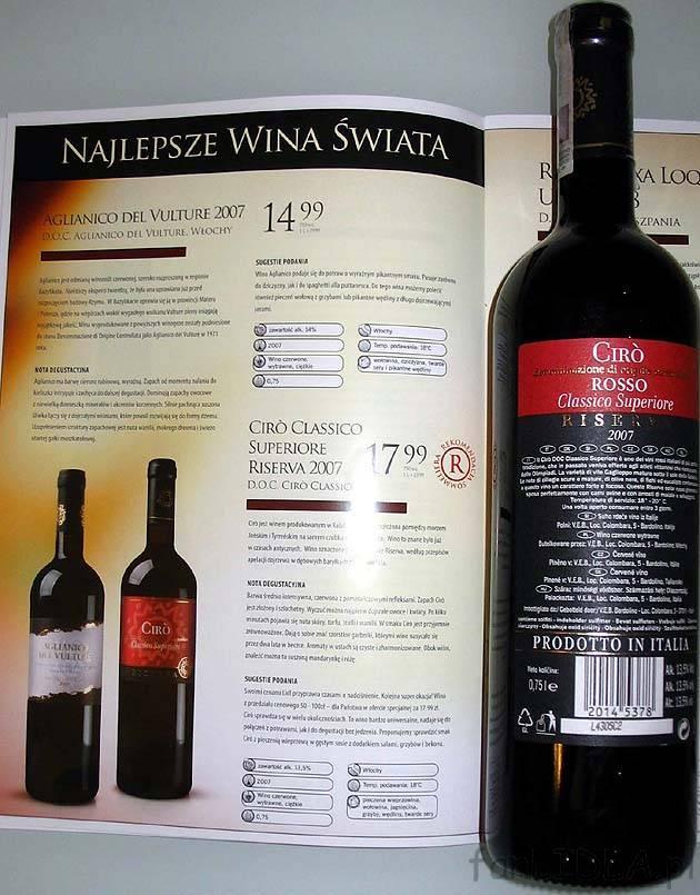 Wino Agliancino Del Vulture Wino Artykuły Spożywcze Fanlidlapl