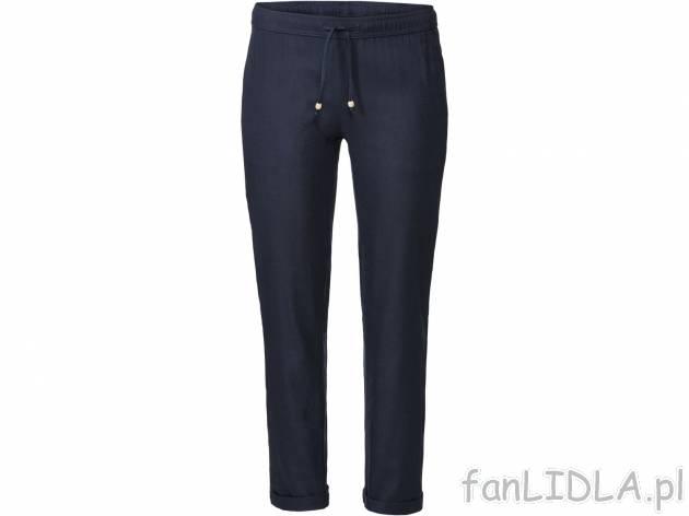 Spodnie z lnem Esmara, Moda, odzież fanLIDLA.pl