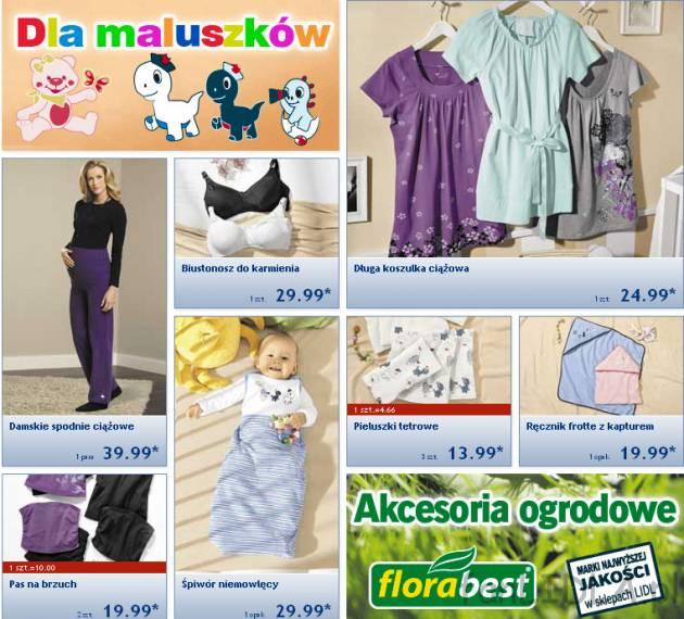 57fc2687b5cd80 Odzież ciążowa gazetka Lidl , Dla dzieci - fanLIDLA.pl