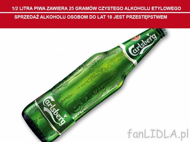 Carlsberg , cena 2,00 PLN za 660 ml/1 but., 1 l=3,53 PLN.