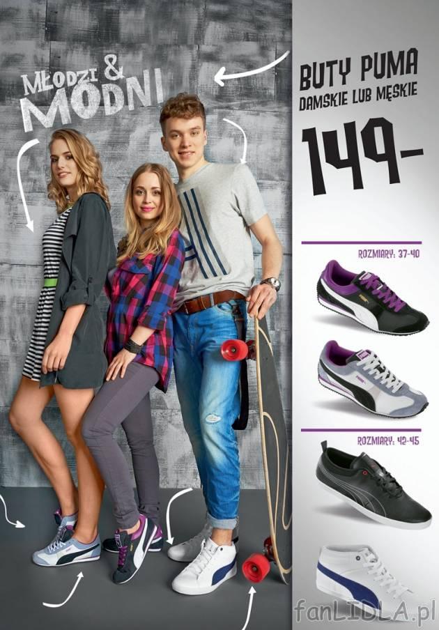 produkty wysokiej jakości przed Sprzedaż złapać Buty PUMA damskie lub męskie Puma, Moda, odzież - fanLIDLA.pl