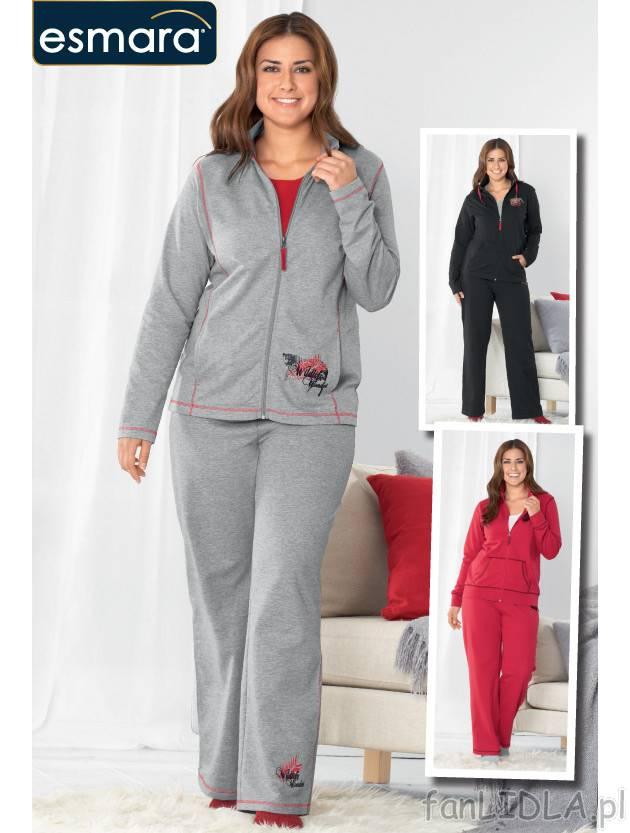 d070f569a32cbd Dres damski w dużych rozmiarach cena 65PLN - bluza na stójce z welurową  aplikacją .