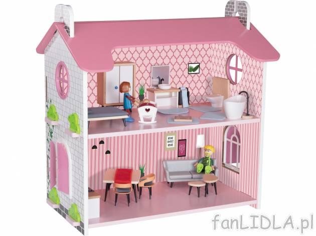 Drewniany domek z wyginającymi się lalkami Playtive Junior