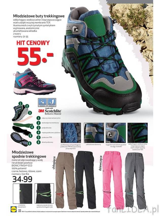 3e44666f Młodzieżowe buty trekkingowe z oddychającej, wodoszczelnej i  nieprzepuszczającej .