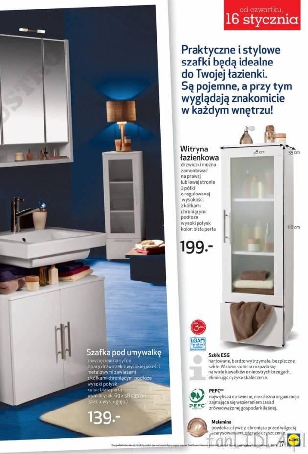 Lidl Witryna łazienkowa łazienka Wyposażenie Wystrój