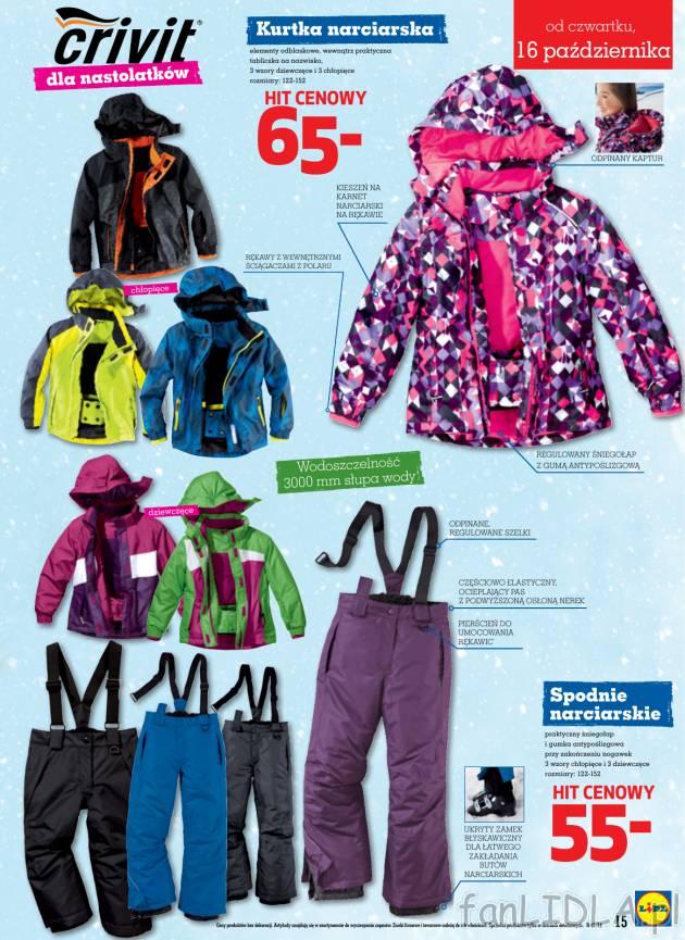81c909609399da Kurtka narciarska dla nastolatków w żywych, neonowych kolorach za 65 zł w  Lidlu.