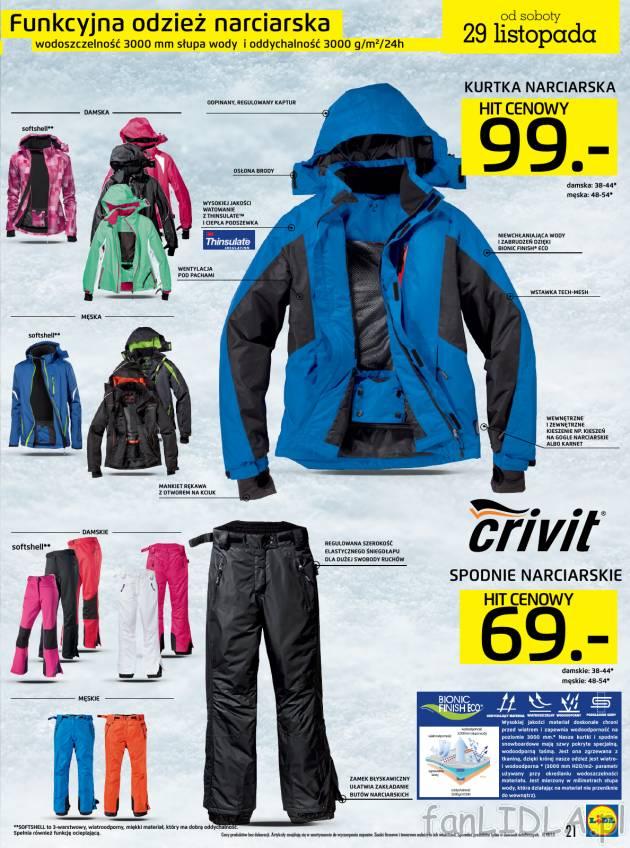 57de7ec1a81802 Funkcyjna odzież narciarska: kurtka narciarska i spodnie narciarskie.