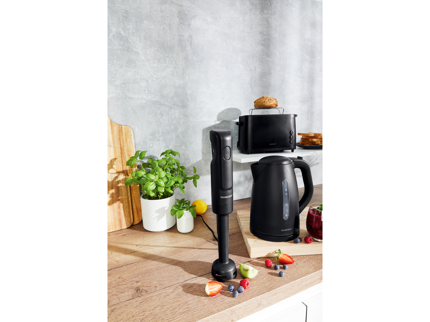 Blender ręczny 300 W Silverscrest Kitchen Tools, cena 39,99 PLN  - z nasadką do ...